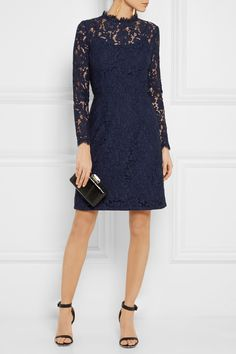 Conservative, but in a way that doesn't have to be boring. I do have reservations about the vertical neckline, though they could be assuaged with some clever styling. (Temperley London|Coco Lace Dress)