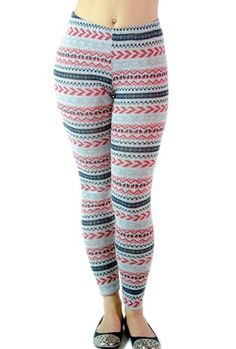 Chillaay Day Out Knit Leggings - Gray/Red-S  #Soho_Girl #Apparel