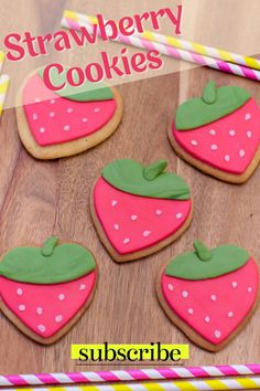 Check out these super easy and flavorful Strawberry Cookies that you and your kids can prepare for an afternoon snack. This recipe has only four ingredients, plus decorating your cookie is a fun and exciting activity for your little ones. Grab your FREE Strawberry Cookie recipe by tapping the pin. Enjoy! Kids Birthday Snacks, Kids Party Snacks, Disney Cupcakes, Disney Cookies, Strawberry Shortcake Recipes, Cute Strawberry, Shortbread Cookies, Sugar Cookies, Strawberry Cookie Recipe