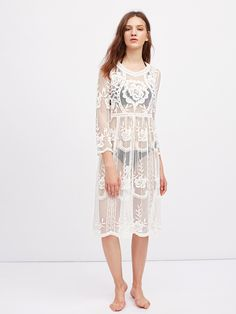 Shop See-Through Embroidered Lace Dress online. SheIn offers See-Through Embroidered Lace Dress & more to fit your fashionable needs.