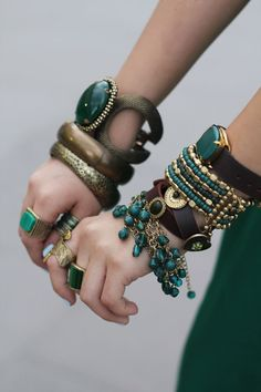 Emerald arm party
