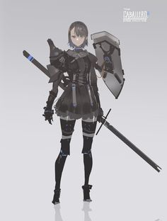 Fantasy Character Design, Character Design Inspiration, Character Concept, Character Art, Concept Art, Manga Girl, Anime Art Girl, Android Art, Anime Weapons