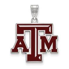 34faf5c1 Texas A&M Aggies Sterling Silver Enamel Pendant | Logo Art | SS026TAM  Thursday Football, Texas