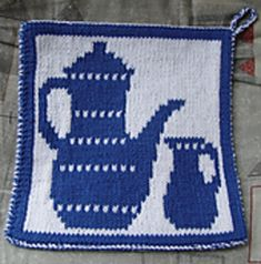 The distribution of this pattern ended in October Milk Jug, Potholders, Knits, Ravelry, Coasters, Knit Crochet, Patterns, Knitting, Kitchen