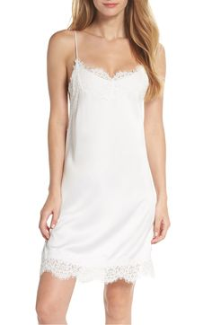 The Juliette Chemise in silky soft white charmeuse 71bd284da