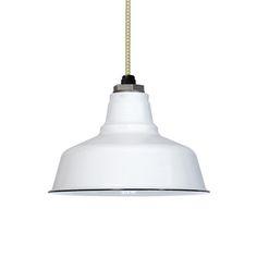 "10"" Ivanhoe Esso, 250-White | CSGW-Gold & White Cloth Cord - hallway lighting - white, graphite, blue or green?"