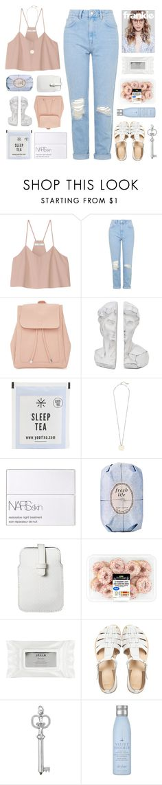 """""""you make me begin"""" by seoul-searching ❤ liked on Polyvore featuring TIBI, Topshop, New Look, Witchery, NARS Cosmetics, Fresh, Mossimo, Stila, ASOS and Drybar"""