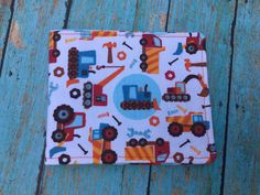 Construction Wallet by BeyondThePeachTree on Etsy