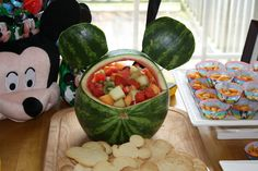 The Cataliotti Connection Watermelon Art, Watermelon Carving, Xmas Holidays, Christmas Time, Mickey Mouse Cake, Minnie Mouse, Fruit Creations, Mickey Party, Mickey Birthday