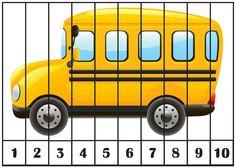 1 Transportation Preschool Activities, Preschool Puzzles, Numbers Preschool, Preschool Age, Toddler Learning Activities, Puzzles For Kids, Kindergarten Activities, Vip Kid, Literacy Worksheets
