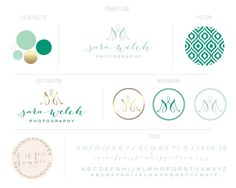 Gold & Graphic Branding Board | B is for Bonnie Design :: love the font, elegant marks, graphic pattern.