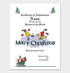 Christmas Gift Certificate Template For Your Boss | Gift Certificate ...