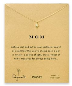 This North Star Necklace comes with a story card that will help your mom know exactly how you feel about her.  If you're looking for a touching and cherishing gift, this is it!