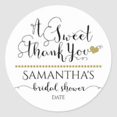 SWEET THANK YOU | BRIDAL SHOWER STICKER