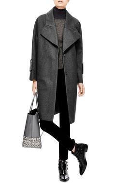 Oversized Felted-Wool Coat by Carven - Moda Operandi Tailored Coat, Carven, Work Fashion, Wool Coat, Felted Wool, Work Wear, Winter Outfits, Normcore, Street Style