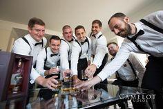 Groom and groomsmen getting ready