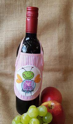 Wine Bottle Apron You are my Sunshine Novelty Gift Unique