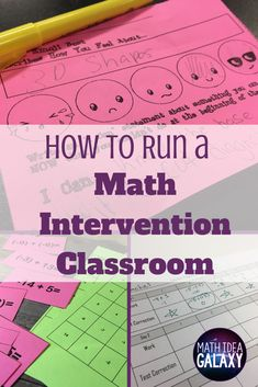 Setting up a math intervention class can be overwhelming. Heres how I set up the right mindset, design learning activites, and choose high-impact concepts. Sixth Grade Math, Fourth Grade Math, First Grade Math, Math Resources, Math Activities, Math Strategies, Math Lab, Math Enrichment, Math Intervention