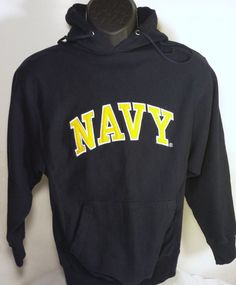 United States Navy Mens Size Small Hoodie Blue Steve & Barry's #SteveBarrys #Hoodie