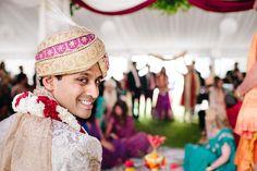 Indian Wedding Ceremony Groom | @HilaryCam Photography | @kateaspen