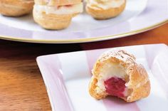 Mini raspberry profiteroles with vanilla bean custard main image