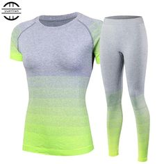FREE SHIPPING, 2016 Brand Women's tracksuits Yoga Sets Breathable Sport Suit Fitness Gym Running Set Yoga Shirt Top and Yoga Pants Gym Set Girl