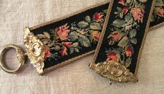 Antique BELL PULL Victorian NEEDLEPOINT & by villavillacolle, $150.00