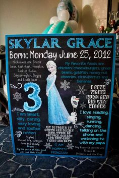 Welcome Sign at a Frozen Birthday Party. Cheap and so beautiful! This would be great for a girl's party. Elsa Birthday Party, Frozen Birthday Theme, Frozen Themed Birthday Party, Third Birthday, 4th Birthday Parties, Frozen Party, Birthday Ideas, Party Ideas, Princess Party