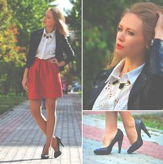 The magic of Red (by Anna Midday) http://lookbook.nu/look/3996988-The-magic-of-Red-Black