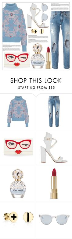 """""""OOTD 2004.16"""" by martso ❤ liked on Polyvore featuring Barrie, Dolce&Gabbana, Kate Spade, Paul Andrew, Marc Jacobs, Sydney Evan, Sun Buddies, outfit, look and ootd"""