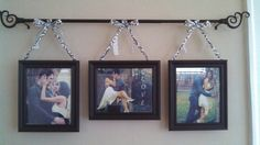 Curtain rod picture frame holder