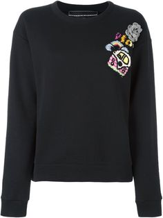 MICHAELA BUERGER patch detail sweatshirt. #michaelabuerger #cloth #sweatshirt