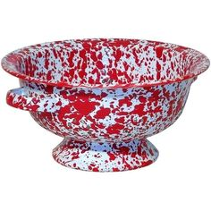 Crow Canyon D28RM Small Colander, 9.5D, Red Marble (Porcelain)