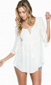 Blusas white de moda 1