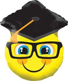 """Graduación : Smiley With Grad Cap 18"""""""