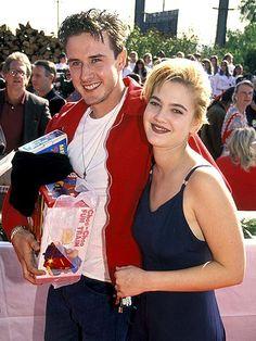 Drew Barrymore and David Arquette scream 1996