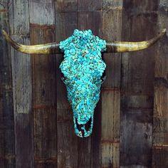 ≫≫≫↠↠ Turquøise DÄZE ↞↞≪≪≪ #chidlofwild #cowskulls #turquoise