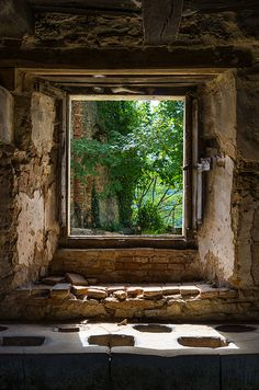 Castle Window View by Bobrad, via Flickr