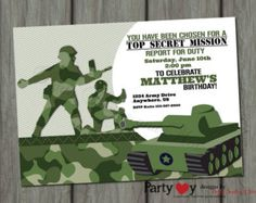 Printable Army Birthday Invitations Free