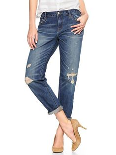 1969 destructed sexy boyfriend jeans Product Image