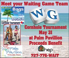 Bags on the beach corn hole tournament!! May 31 2014