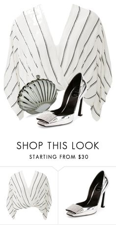 """""""STRIPED!"""" by maria-laura-correa-da-silva ❤ liked on Polyvore featuring Free People and Roger Vivier"""
