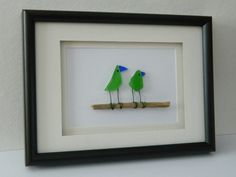 Sea Glass Birds by RockyCoastDesigns on Etsy