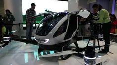 It's the first drone that can accommodate a human passenger!  Chinese drone manufacturer Ehang Inc has unveiled the first autonomous aerial vehicle that can comfortably carry a human being inside.  The Ehang 184 drone resembles a smart car with wings, or a mini helicopter, as it's big enough to carry