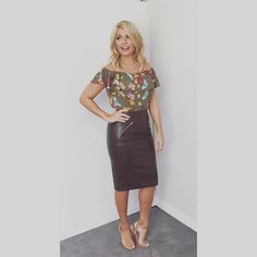 Today's look on @itvthismorning skirt by @zara top by @anthropologieeu #maeve shoes by @officeshoes