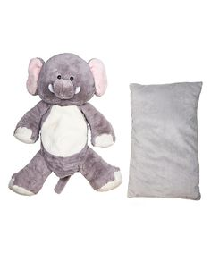 Loving this Gray Elephant Plush Toy & Pillow Set on #zulily! #zulilyfinds