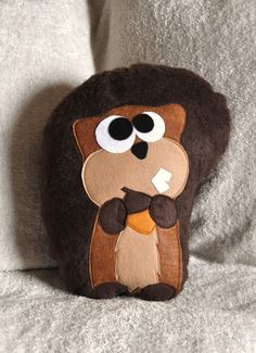 Scurry the Squirrel Plush Pillow by bedbuggs on Etsy, $26.00