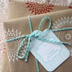bespoke letterpress boutique - christmas - gift wrapping ideas - christmas gift tag - swing tag