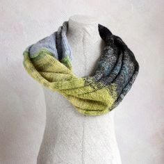 One of a kind knit infinity scarf  Tide Pool  by WrapturebyInese, $60.00