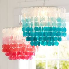Girls' room capiz shell chandeliers Product Images | PBteen